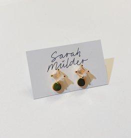 Sarah Mulder Som Stud- Gold // Rose Quartz