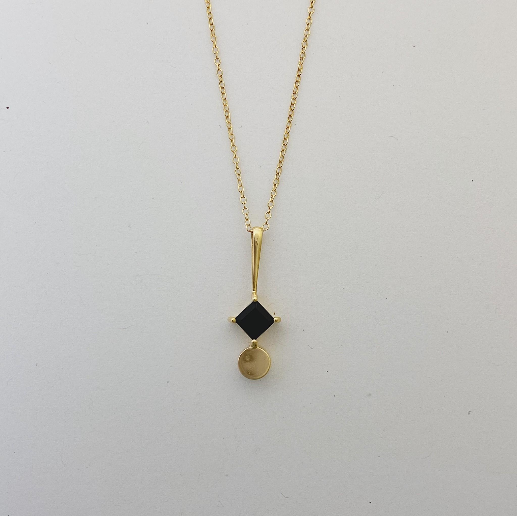 Sarah Mulder Som Necklace- Gold // Onyx