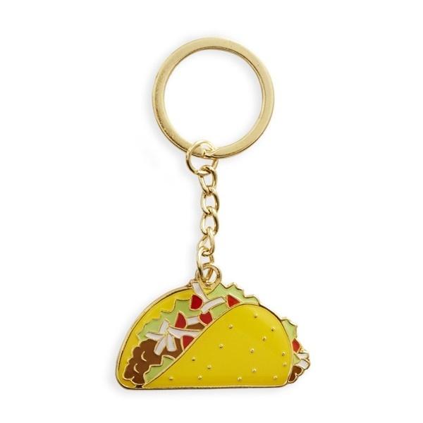 The Found Enamel Keychain- Taco