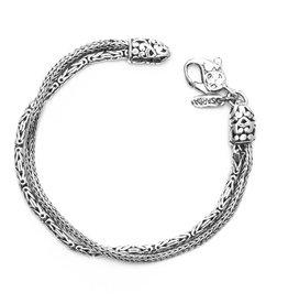 Sarda 2 Strand Bali Snake Bracelet
