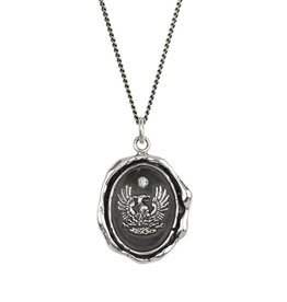 Pyrrha Pyrrha- Fire Within Diamond Set Talisman 18""