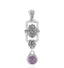 "Sarda Amethyst Pendant (with 24"" Spiga Chain)"