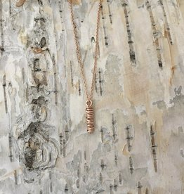 Dianne Rodger Rose Gold Small Micro Twist Drop Necklace