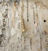 Dianne Rodger Med Gold Petal Necklace / Citrine