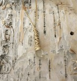 Dianne Rodger Medium Gold Petal Necklace- Citrine
