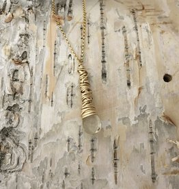 Dianne Rodger Med Gold Petal Necklace / Citrine