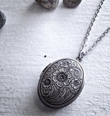 "Pika & Bear ""Emma"" Antique Silver Locket"