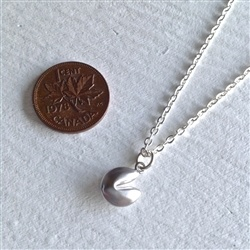 """Pika & Bear """"Benky"""" Tiny Fortune Cookie Necklace Silver"""