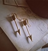 "Pika & Bear ""Takakkaw"" Brass Arrow Drop Earring"