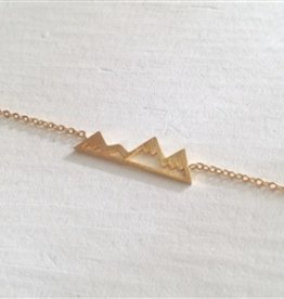 """Pika & Bear """"Bankhead"""" Mountain Range Gold Bracelet"""