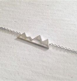 """Pika & Bear """"Bankhead"""" Mountain Range Bracelet Silver"""