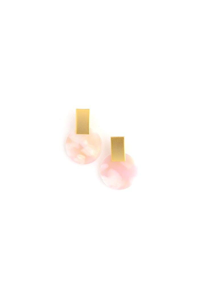 Lover's Tempo Jupiter Drop Earrings- Petal