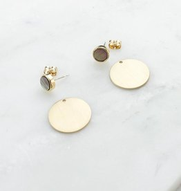 Lover's Tempo Disc-O Jacket Post Earrings- Abalone