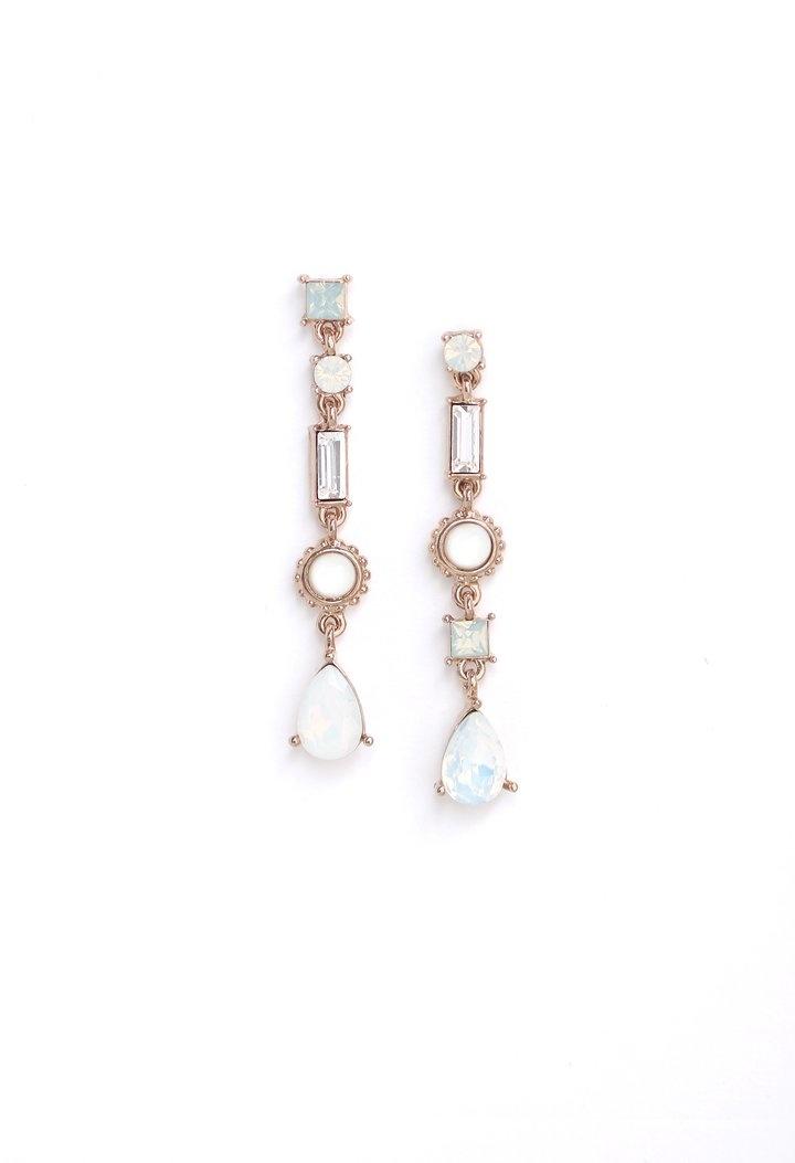 Lover's Tempo Lova Drop Earrings- White Opal