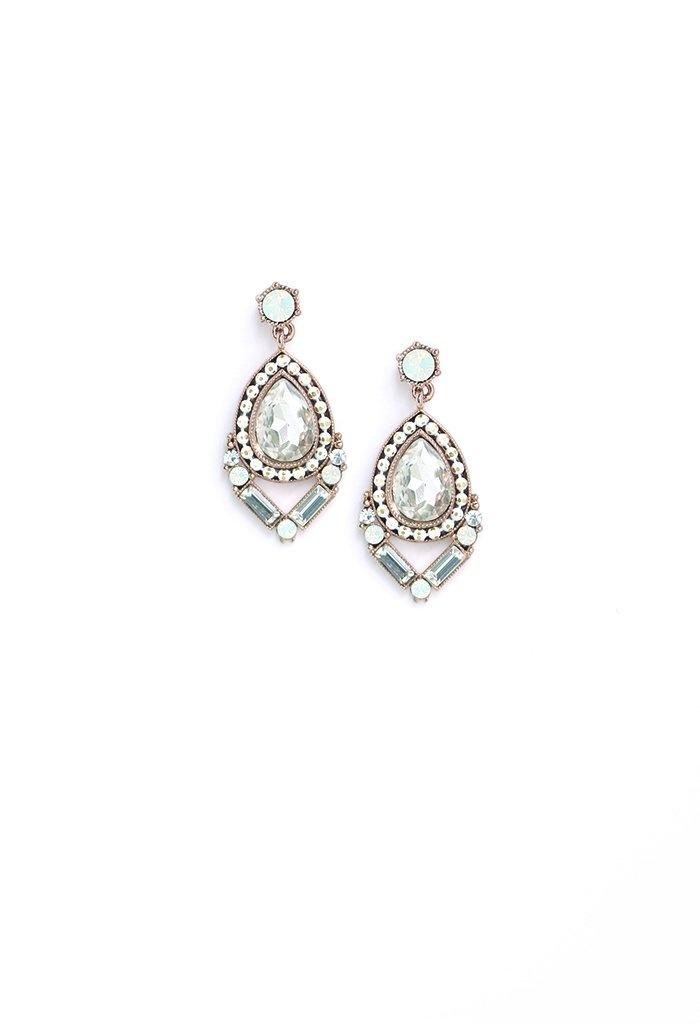 Lover's Tempo Nadia Drop Earrings- White