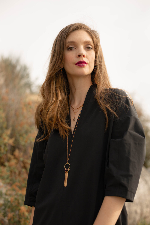 Hailey Gerrits Venus Necklace- Copper Rutilated Quartz