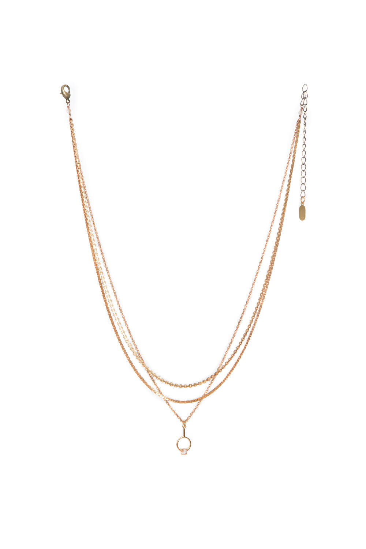 Hailey Gerrits Orbit Necklace- Copper Rutilated Quartz