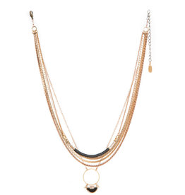 Hailey Gerrits Atlas Necklace- Copper Rutilated Quartz