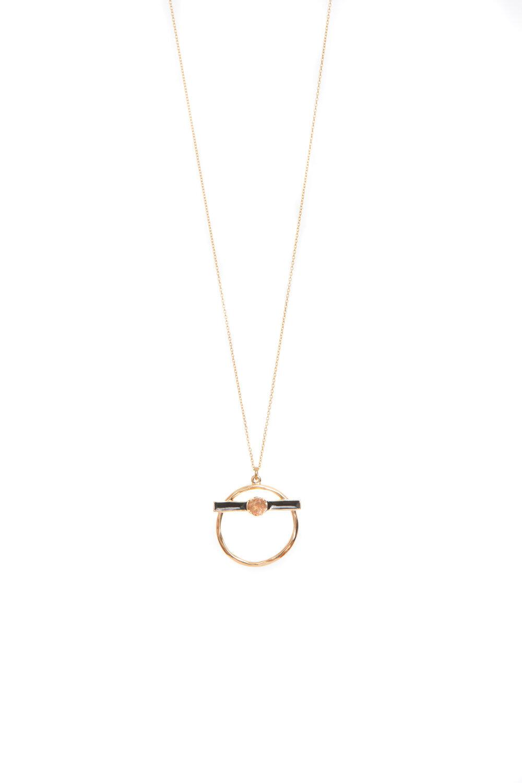 Hailey Gerrits Luna Necklace- Copper Rutilated Quartz