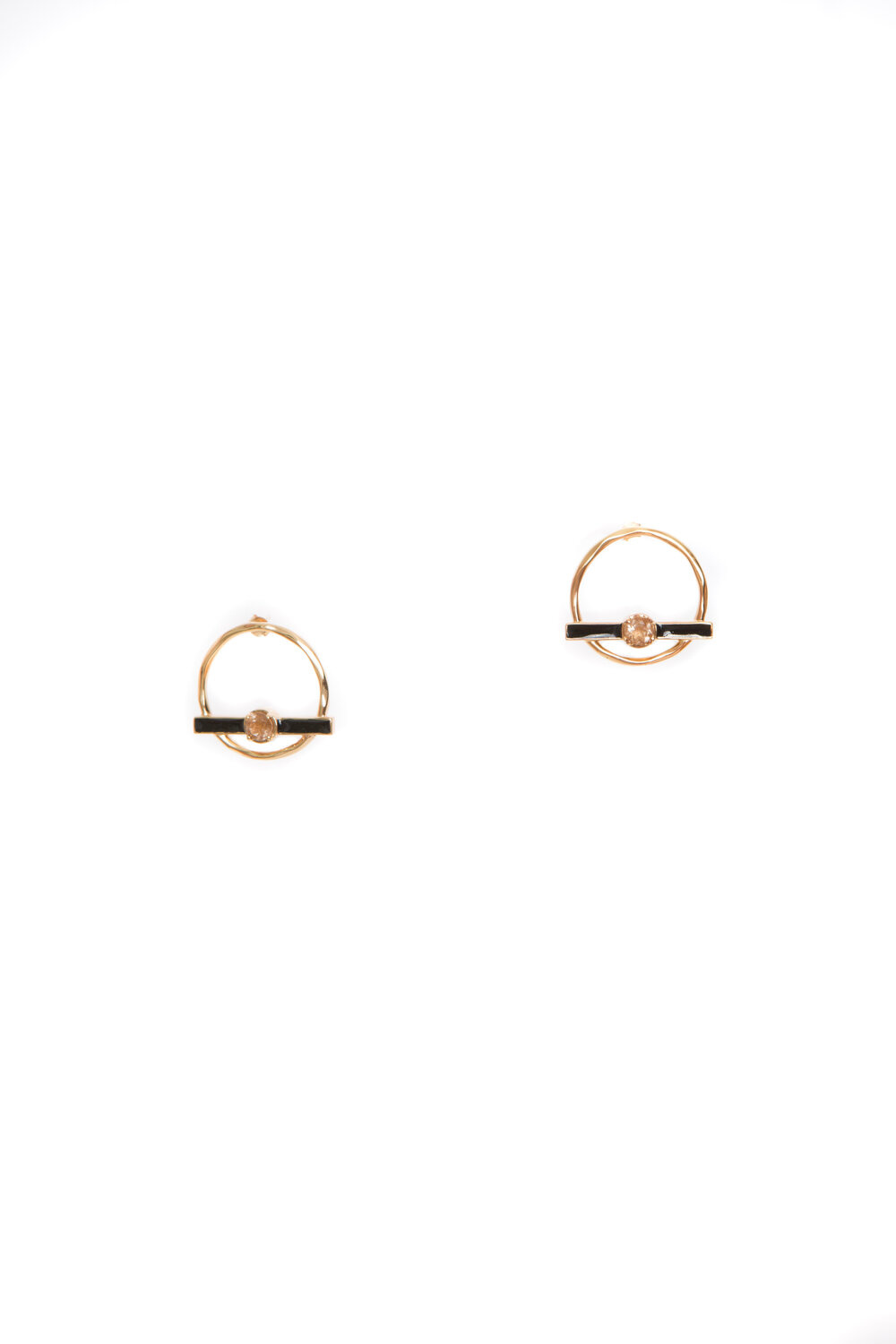 Hailey Gerrits Luna Studs- Copper Rutilated Quartz
