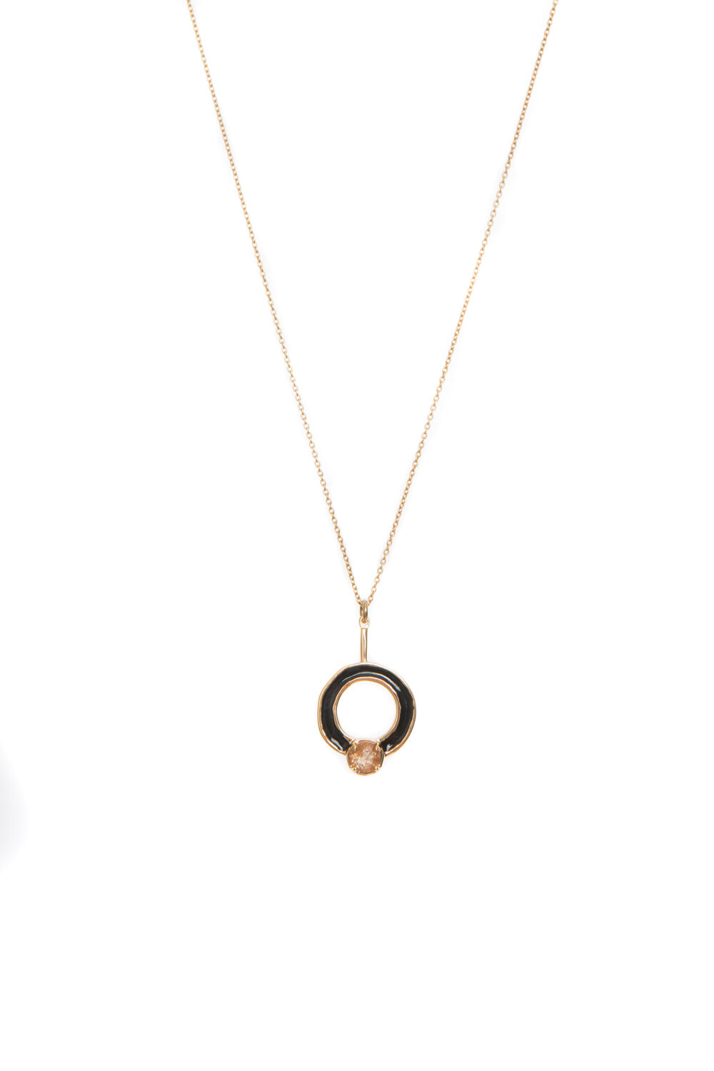 Hailey Gerrits Cronus Necklace- Copper Rutilated Quartz