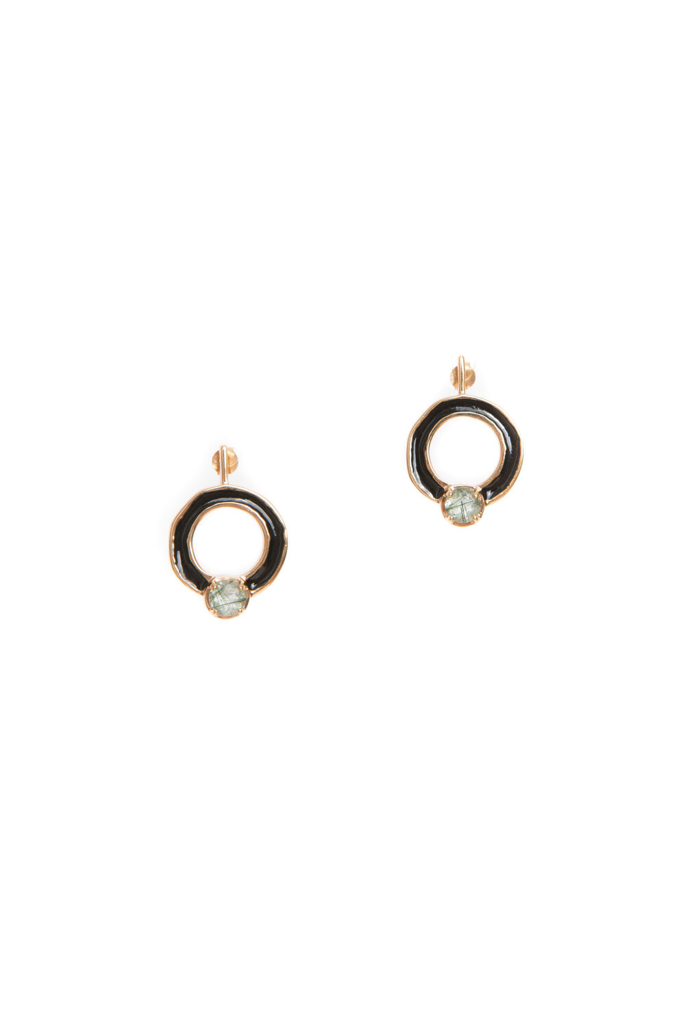 Hailey Gerrits Cronus Earrings- Green Rutilated Quartz