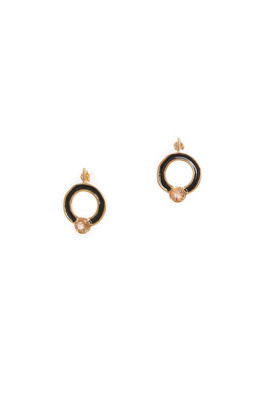 Hailey Gerrits Cronus Earrings- Copper Rutilated Quartz