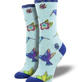 SockSmith Hummingbird Blossom Socks (Blue)