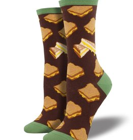 SockSmith Grilled Cheese Socks (Brown)