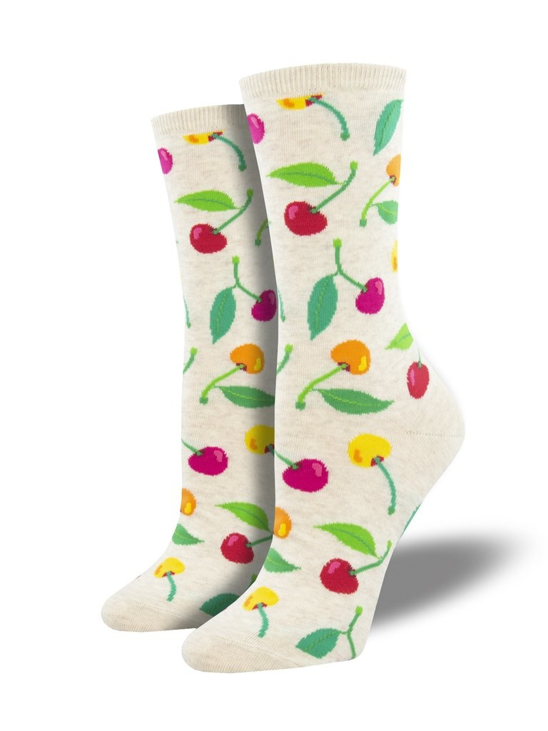 SockSmith Cherries Socks (Ivory)
