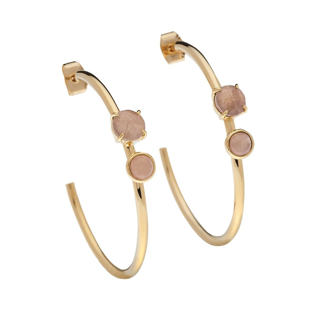 Luv & Bart Roxy Earrings- Rose Quartz