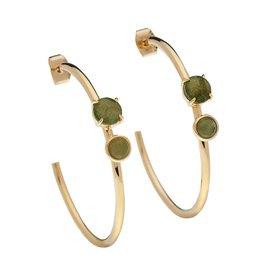 Luv & Bart Roxy Earrings- Labradorite