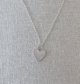 """Valerie Davidson Sterling Fused Tiny Heart Pendant on 18"""" rolo chain"""