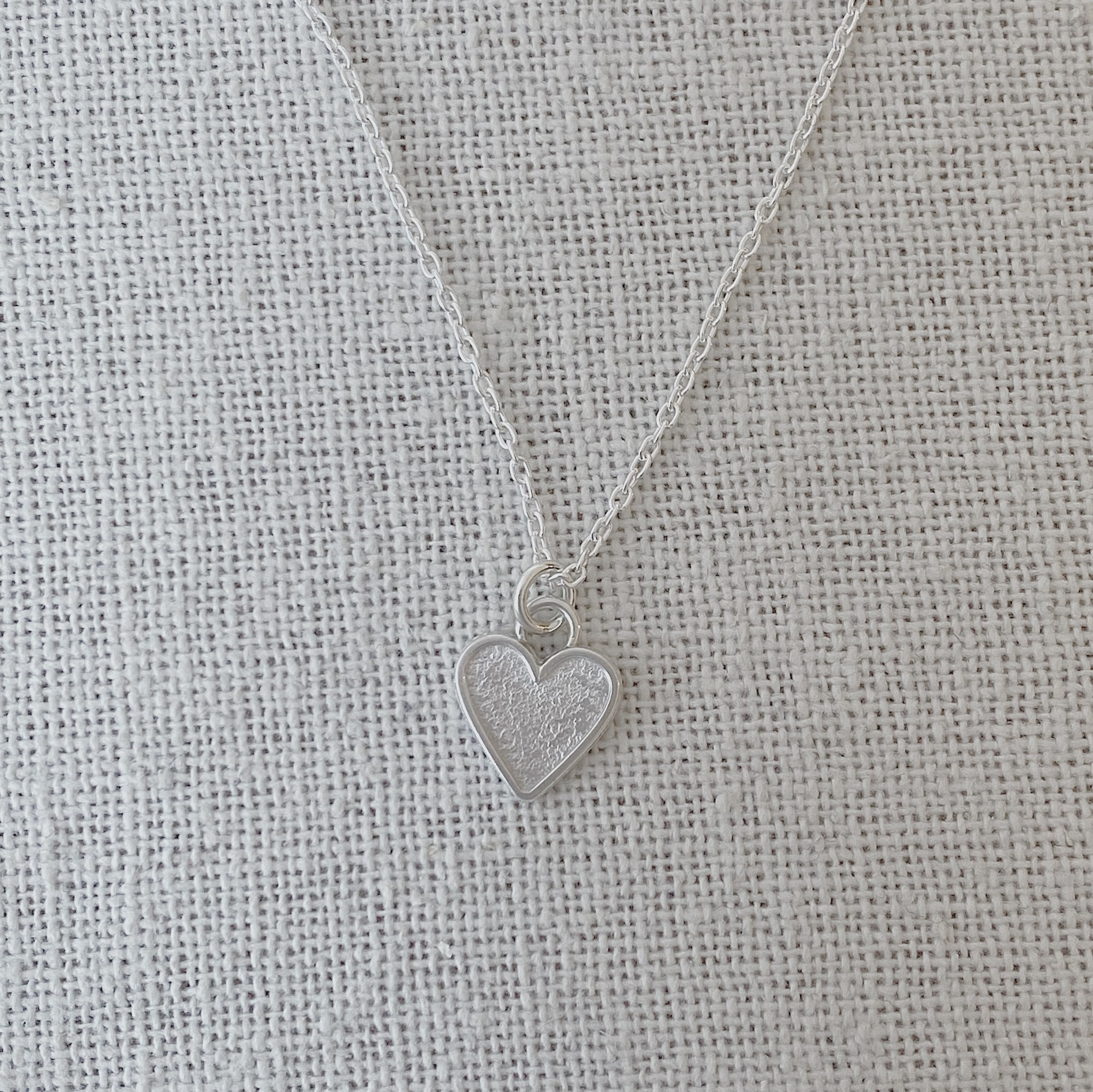 "Valerie Davidson Sterling Fused Tiny Heart Pendant on 18"" rolo chain"