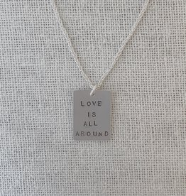 "Valerie Davidson Sterling ""Love Is All Around"" Pendant on 18"" Chain"