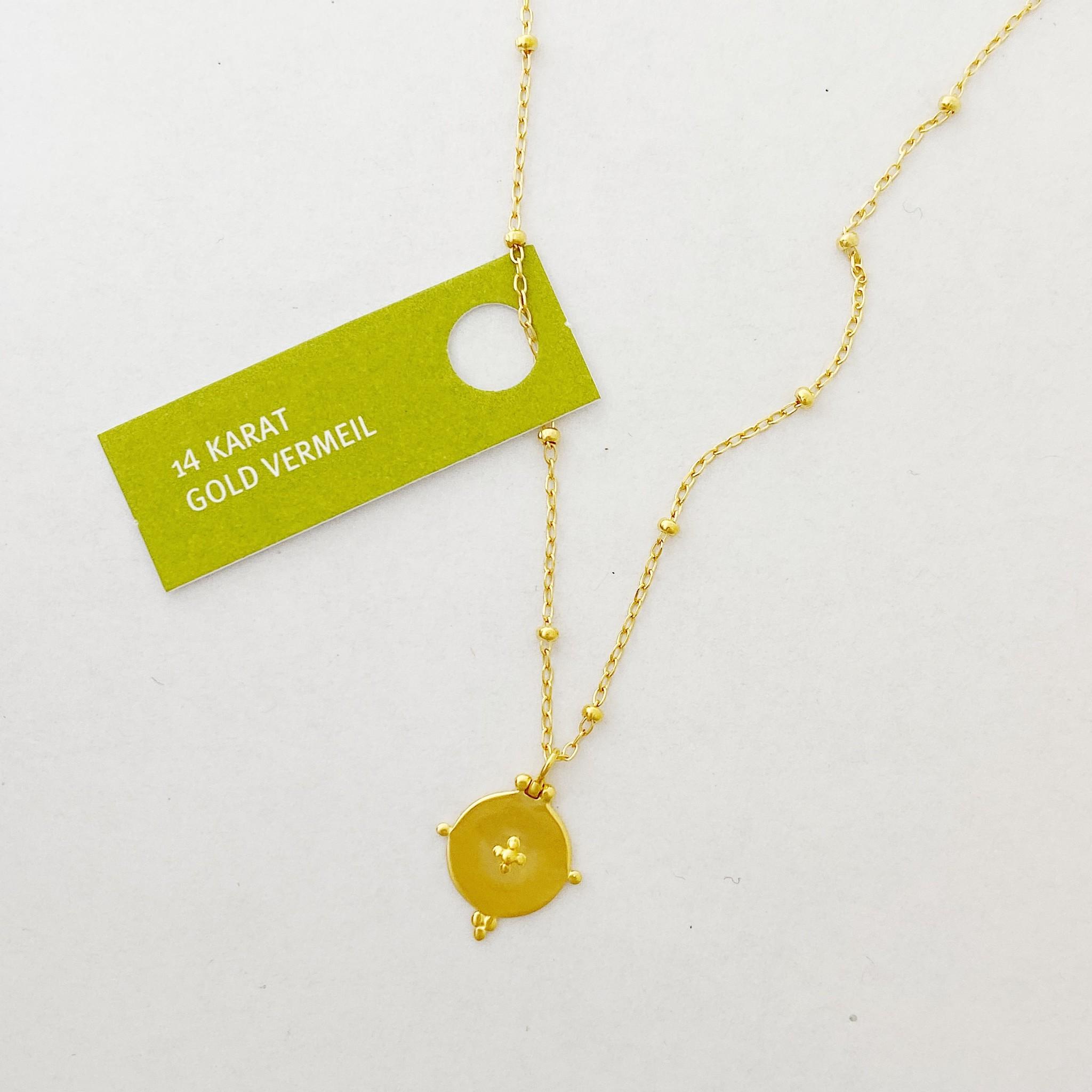 Tashi Gold Disc Necklace