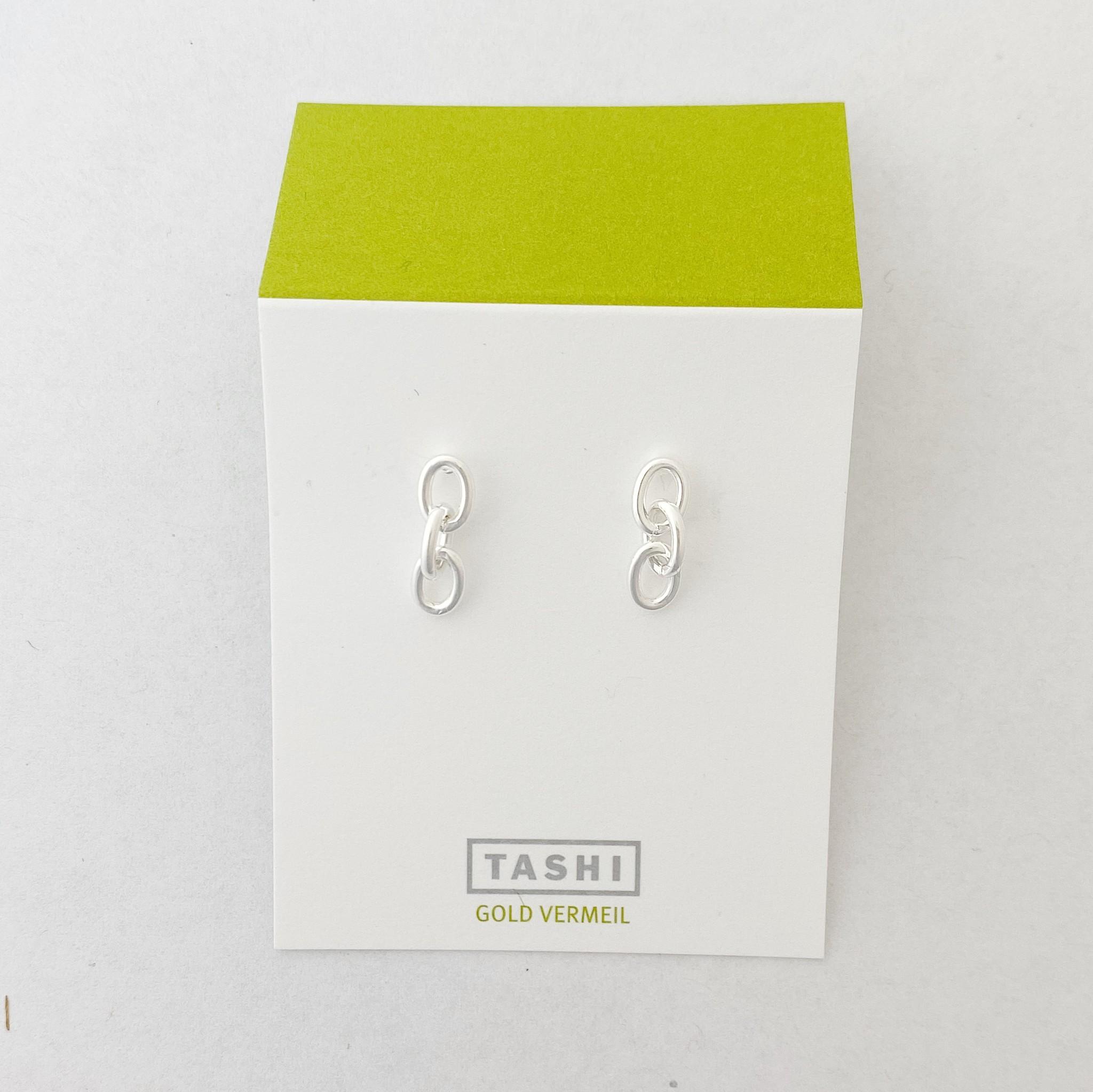 Tashi Silver Chain Link Stud