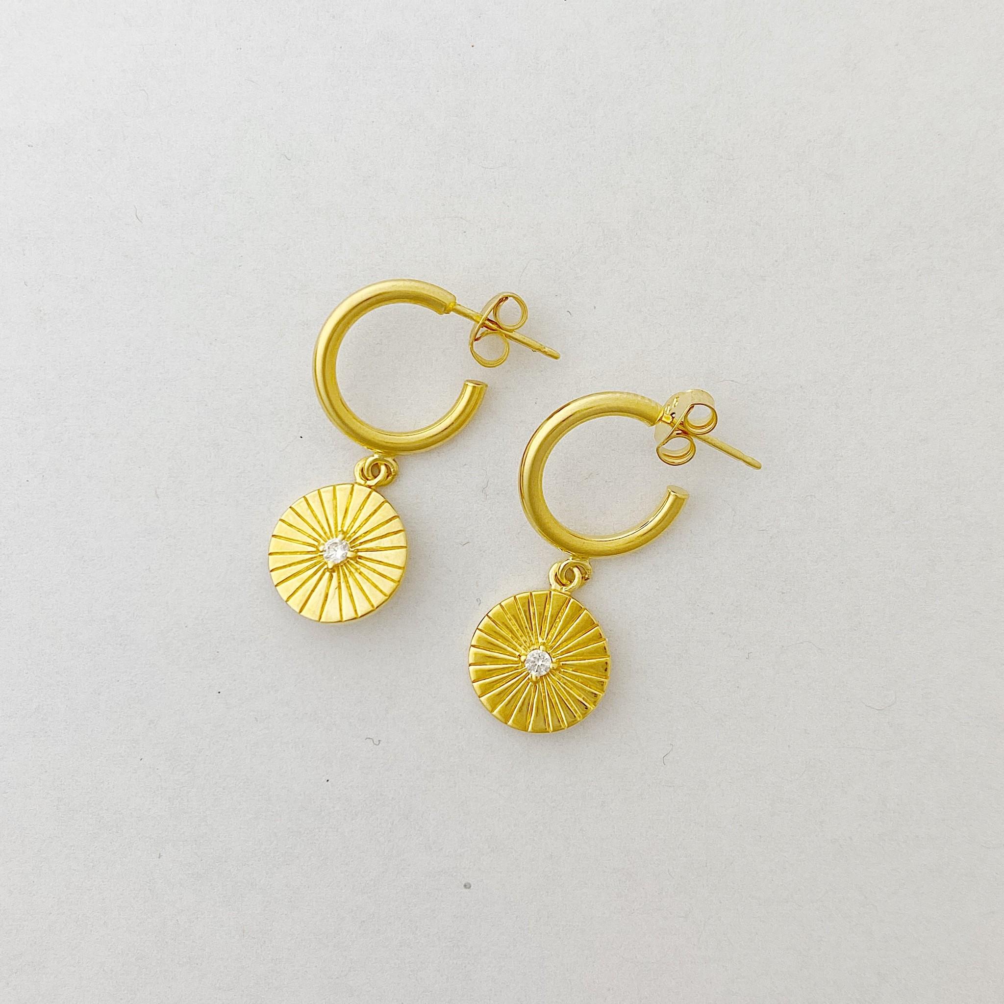 Tashi Gold Sunray Earring