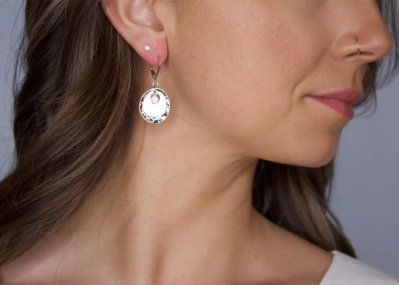 Karyn Chopik Pebble Earring- 14kt Gold- Fill
