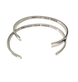 Glass House Goods Inner Voice Bangle: Protect Your Peace