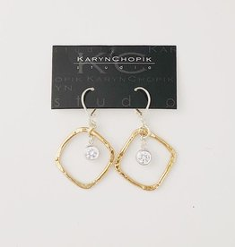 Karyn Chopik Sterling and Bronze with crystal earring