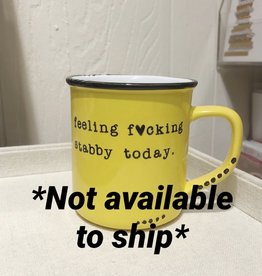 Lace and Twig Stabby Mug (Yellow)