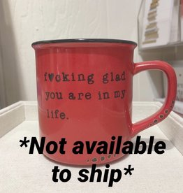 Lace and Twig In My Life Mug (Red)