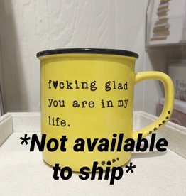 Lace and Twig In My Life Mug (Yellow)