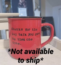 Lace and Twig Pep Talk Mug (Red)