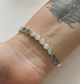 Bamiyan Silver Geometric Bracelet