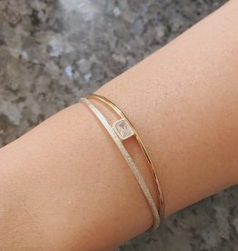 Karyn Chopik Serene Bracelet- Sterling, Bronze, and CZ