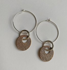 Valerie Davidson Sterling and Bronze Oval Drop Earring