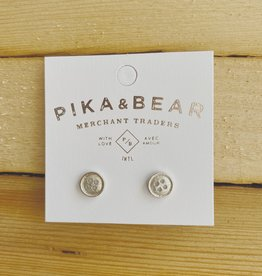 "Pika & Bear ""Notion"" Studs Silver"