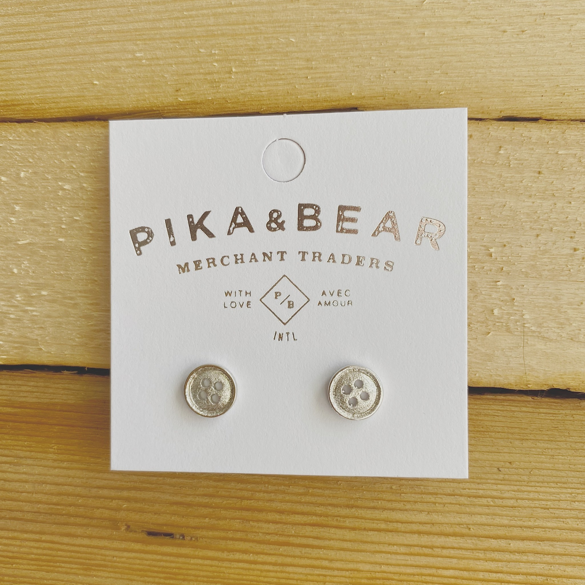 "Pika & Bear ""Notion"" Studs Silver"